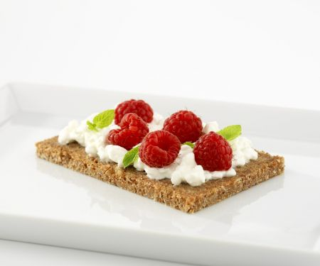 Cottage Cheese and Raspberry Toasts