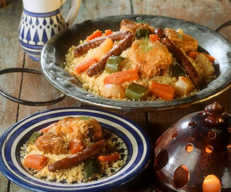 Coucous with Chicken, Lamb and Vegetables