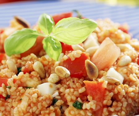Couscous Salad with Pine Nuts and Tomatoes