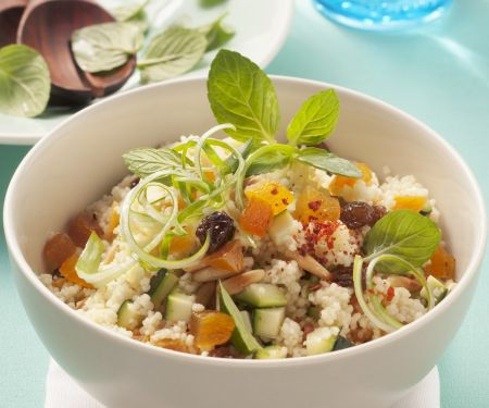 Couscous Salad with Zucchini, Apricots and Pine Nuts