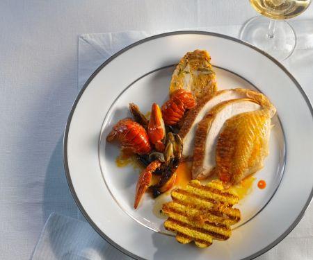 Crawfish and Stuffed Chicken