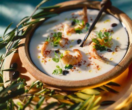 Creamy Soup with Shrimp