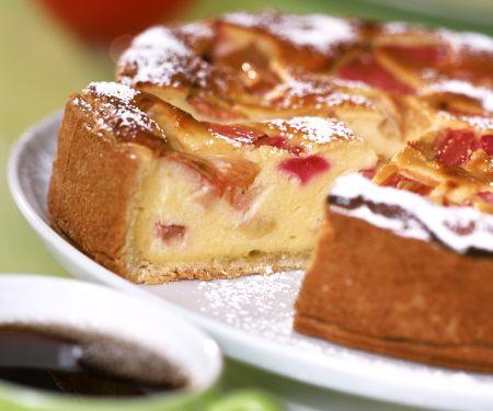 Creamy Tart with Rhubarb