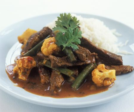 Curried Steak with Green Beans