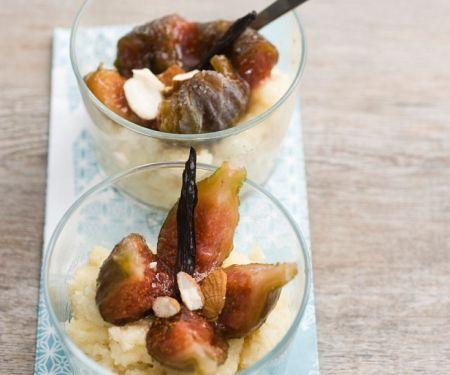Dessert Figs on Semolina Pudding