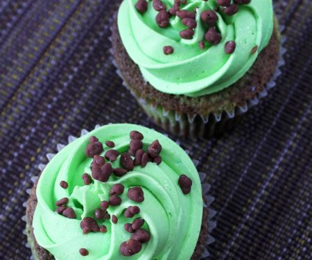 Double Chocolate Cupcakes with Peppermint Buttercream