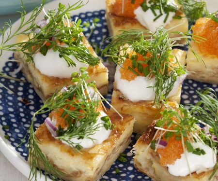 Egg and Gruyere Squares with Roe