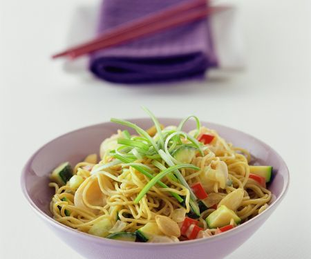 Egg Noodles and Vegetables from the Wok