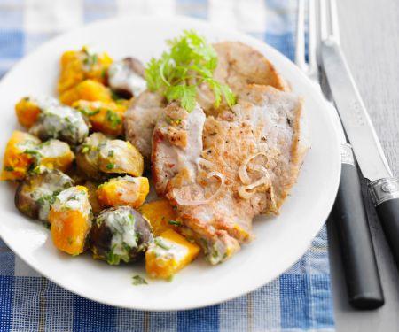 Escalopes with Gorgonzola Vegetables
