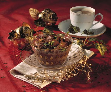 Espresso Mocha Cream with Grappa Raisins