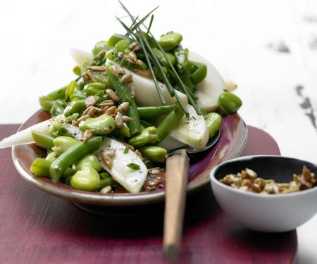 Fava and Green Bean Salad with Pears