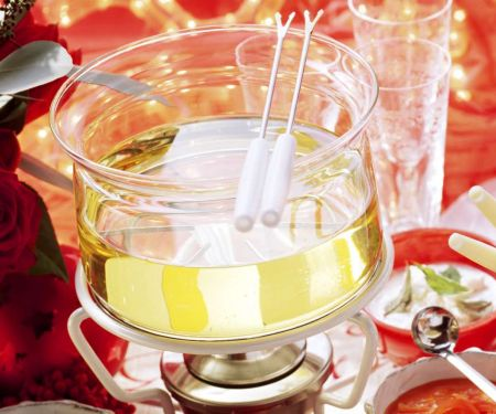 Festive Meat and Vegetable Fondue