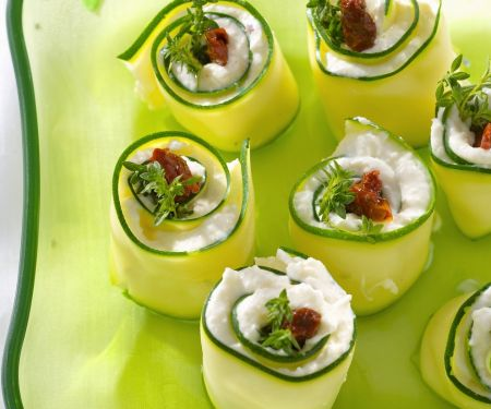 Filled Cucumber Wraps