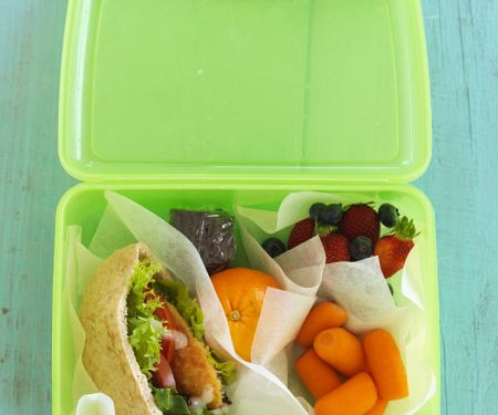 Filled Pittas for Lunchbox