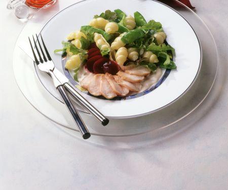 Fine Salad with Rabbit Fillet