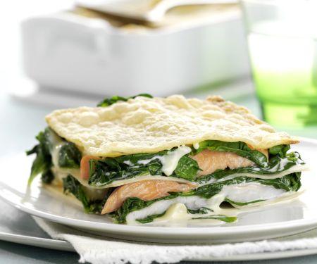 Fish and Spinach Lasagna