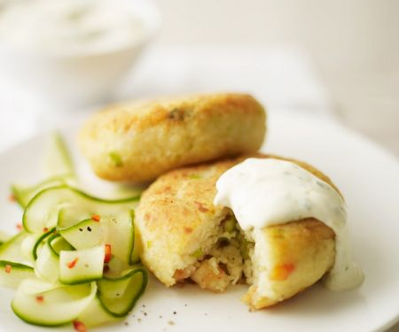 Fish Cakes with Asian Cucumber Salad