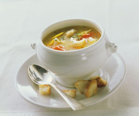 Fish Soup with Potatoes and Tomatoes