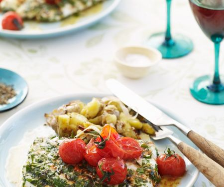 Fish with Cherry Tomatoes and Herbs