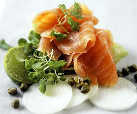 Folded Salmon with Capers and Lime