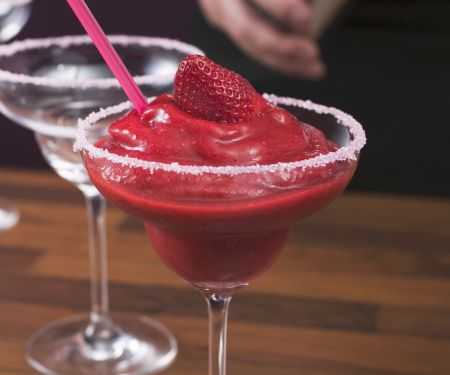 Frozen Strawberry Rum Cocktail