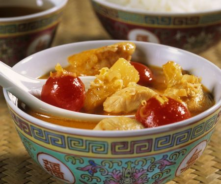Fruity Chicken Curry with Tomatoes