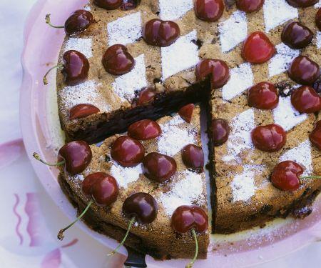 German Chocolate-Cherry Cake