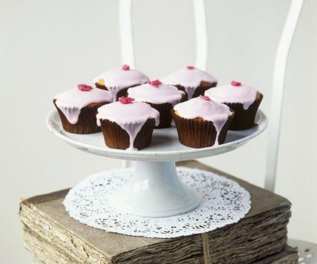 Glazed Lemon and Rose Cupcakes