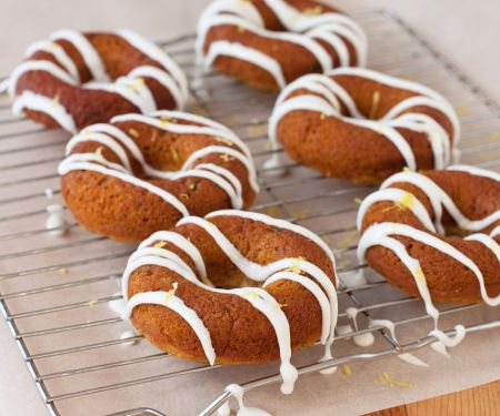 Glazed Vegan, Gluten-free Lemon and Basil Doughnuts