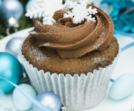 Gluten Free Festive Chocolate Cinnamon Cupcakes