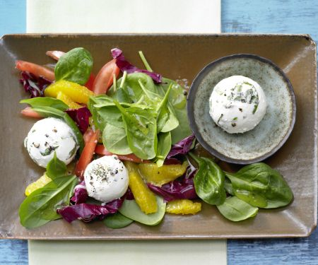 Goat Cheese and Spinach Salad