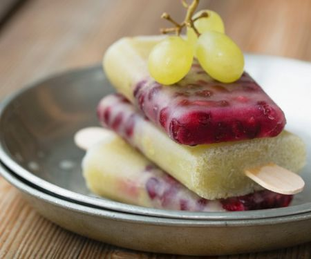 Grape Popsicles with Pomegranate Seeds