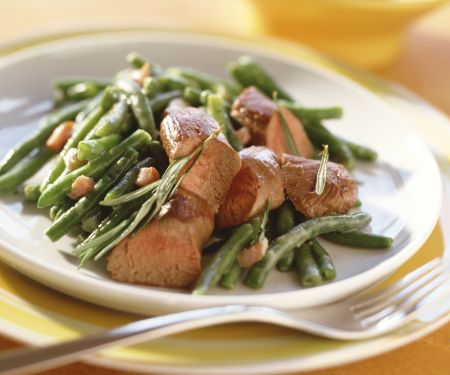Green Beans with Lamb Fillet