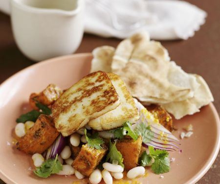 Grilled Cheese and Cannellini Bean Salad