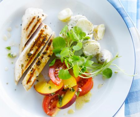 Grilled Chicken Breast with Nectarines