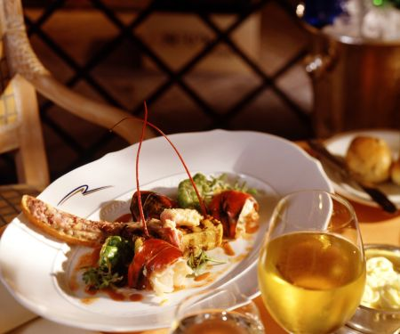 Grilled Lobster with Bruschetta
