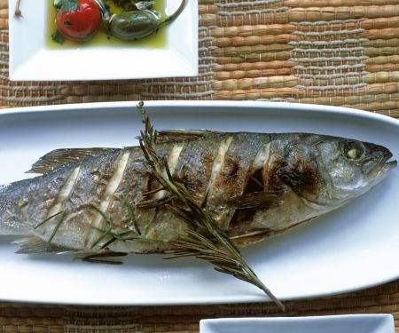Grilled Trout with Marinated Cherry Tomatoes and Capers