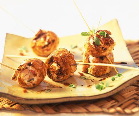 Grilled Turkey Feta Skewers