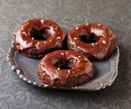 Guilt-free Iced Chocolate Doughnuts