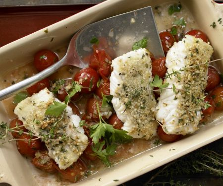 Halibut with Almond Crust