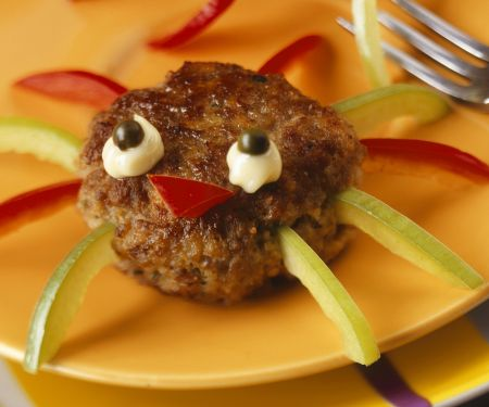 Halloween Meatball Spiders