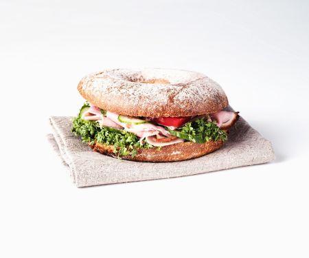 Ham Bagel Sandwiches
