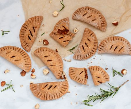 Hand Pies with Tomato, Hazelnut and Rosemary Filling