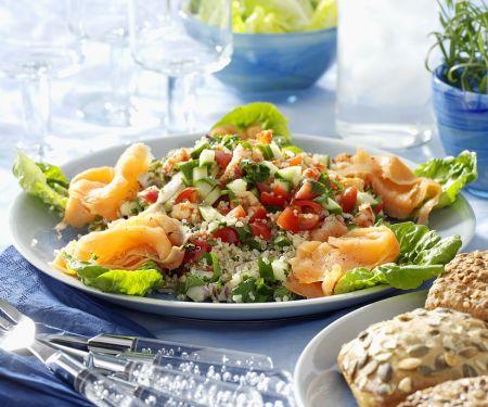 Healthy Grain and Salmon Salad