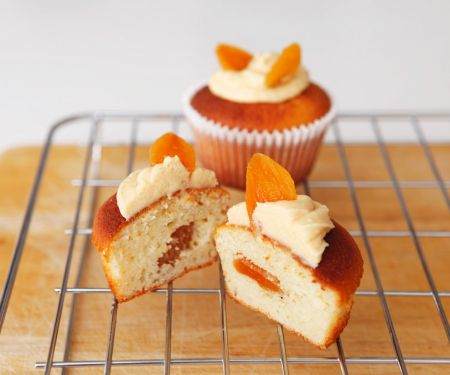 Hidden Centre Apricot Cupcakes