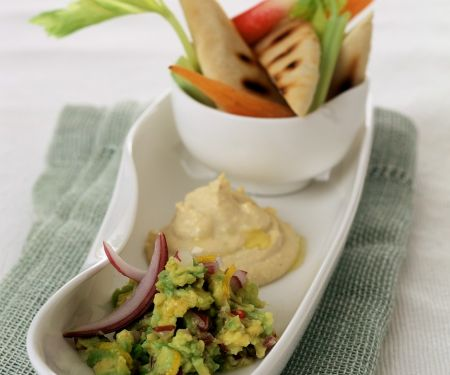 Homemade Hummus and Guacamole