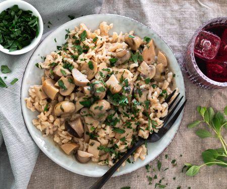 Homemade Spaetzle with Mushroom Ragout