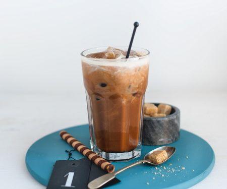 Iced Coffee with Hazelnut Syrup