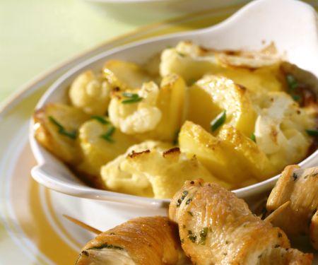 Involtini with Potato and Cauliflower Gratin
