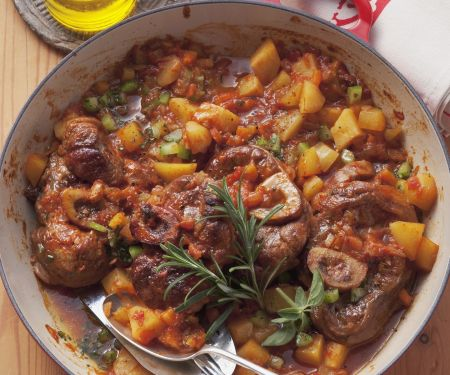 Italian Braised Rose Veal and Vegetables